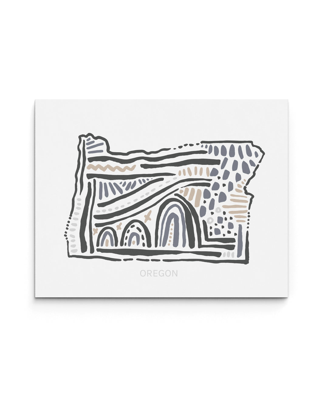 Oregon State | Map Art Print | SI-OR