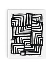 Moving Lines | Block Print