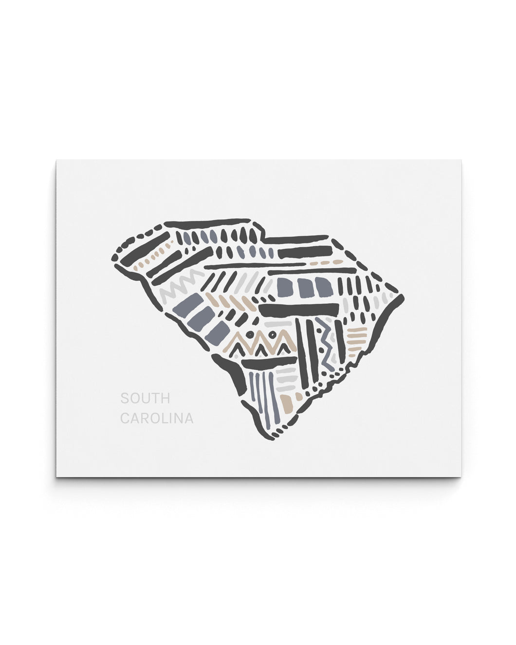 South Carolina State | Map Art Print | SI-SC