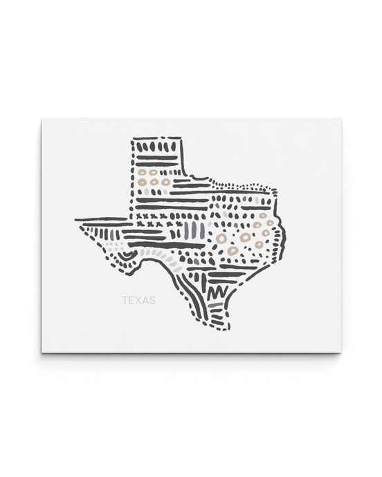 Texas State Map Art Print | SI-TX