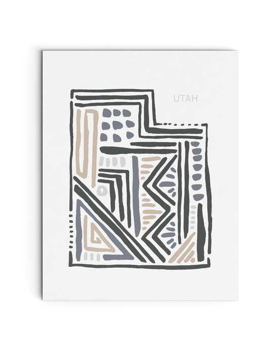 Utah State | Map Art Print | SI-UT