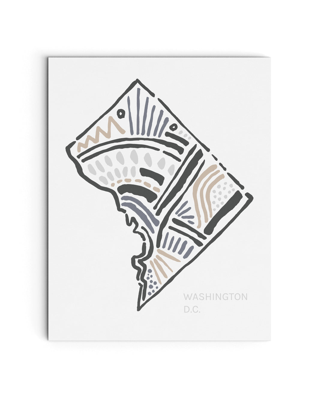 Washington D.C. Map Art Print | SI-WDC
