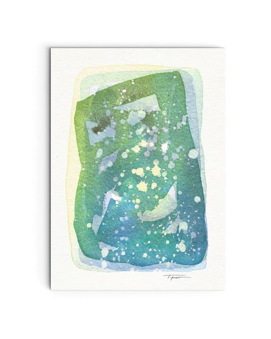 Cosmos No.3 - Original Watercolor Painting