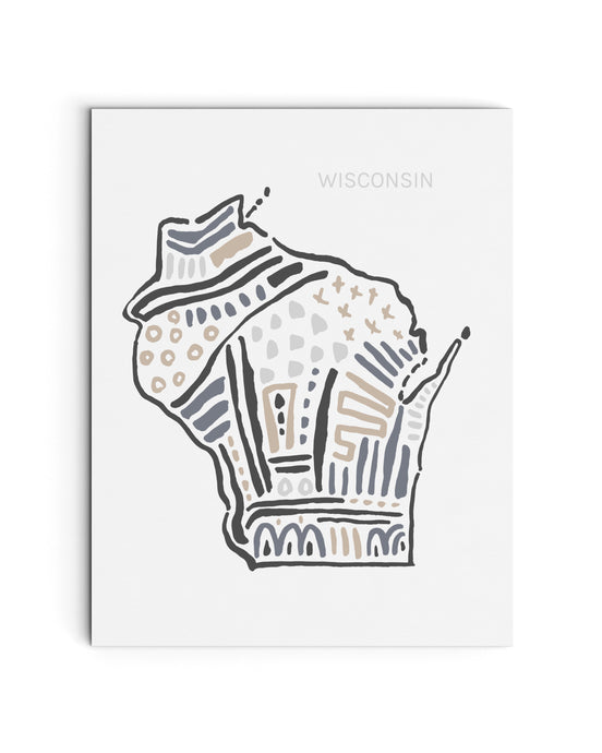 Wisconsin State Map Art Print | SI-WI