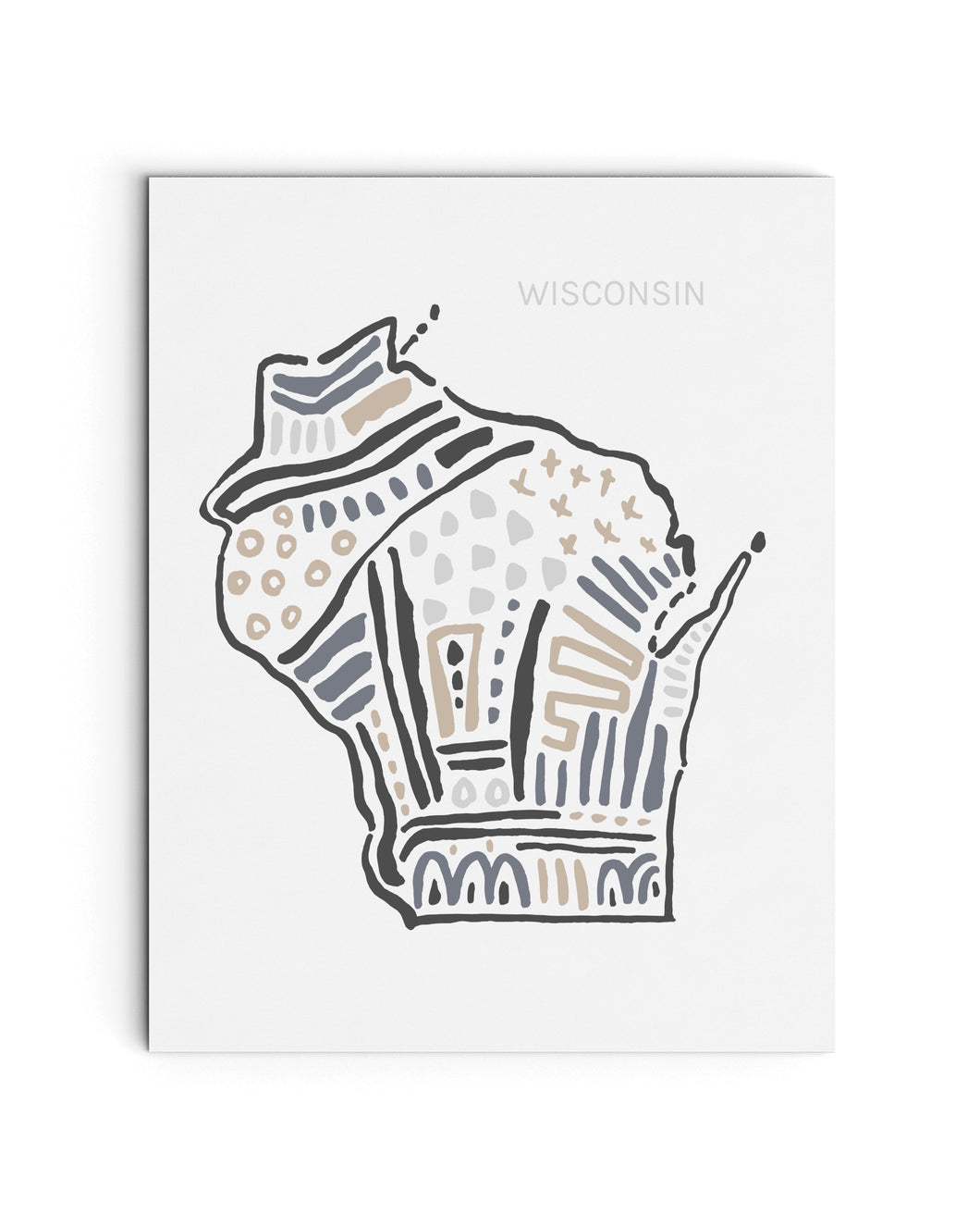 Wisconsin State | Map Art Print | SI-WI