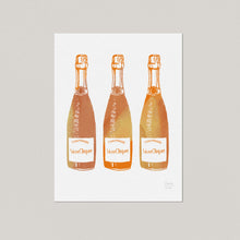Champagne Kitchen Art Print