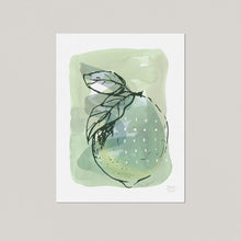 Lemon with Dots - Kitchen Art Print