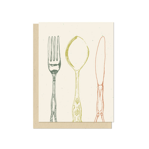 Fork Spoon Knife Blank Card