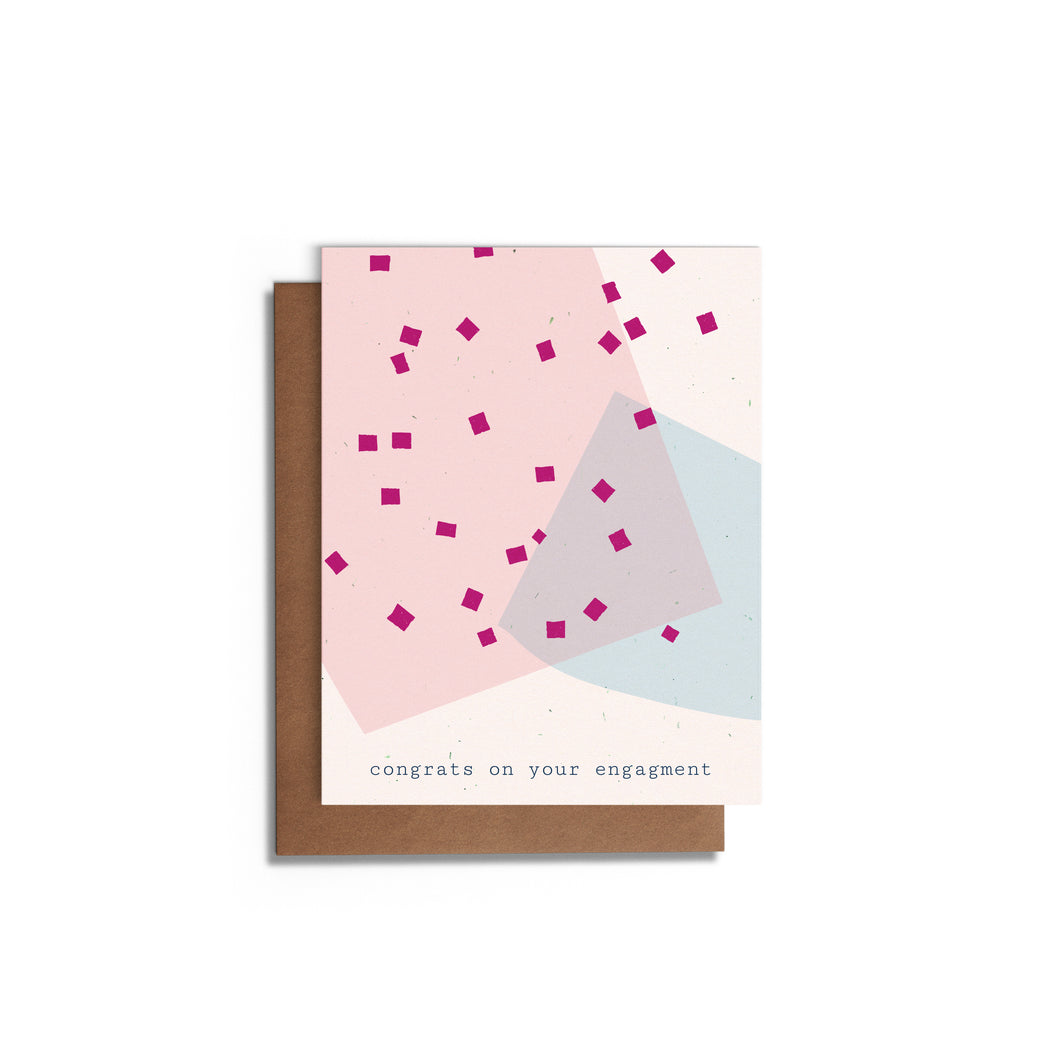 Congrats - Confetti | Engagement Card