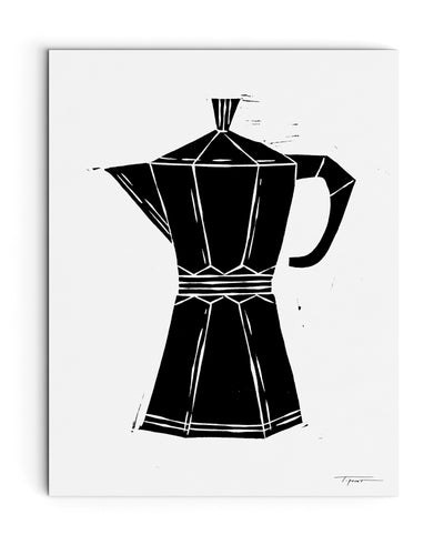 Modern Coffee/Espresso Maker | Kitchen Block Print
