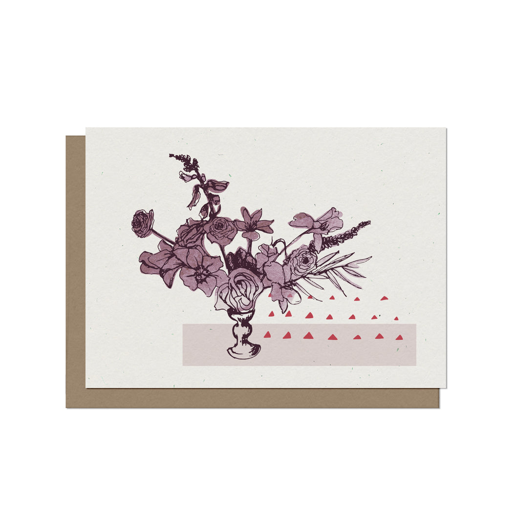 Floral Arrangement - Blank Card