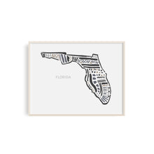 Florida State Map Art Print | SI-FL