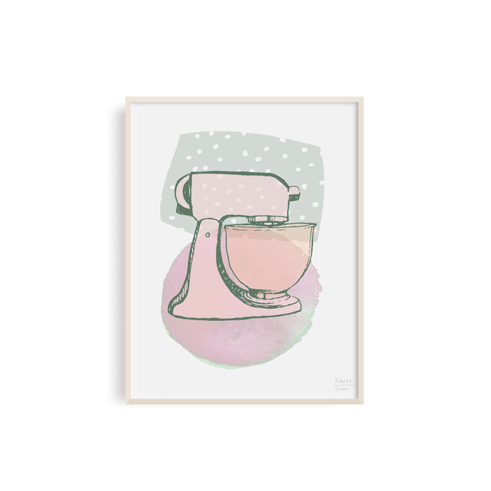 Stand Mixer Kitchen Art Print
