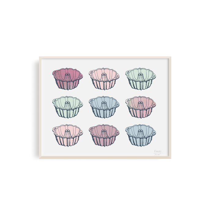 Bundt Cake Pans Kitchen Art Print