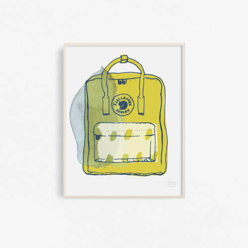 Kanken Backpack Art Print