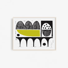 Modern Arches with Chartreuse | Block Print