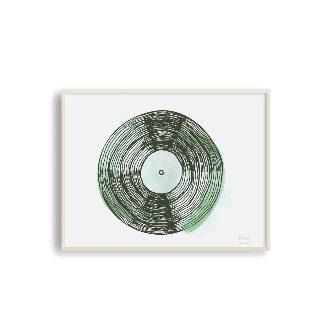 Vintage Record - Musical Art Print