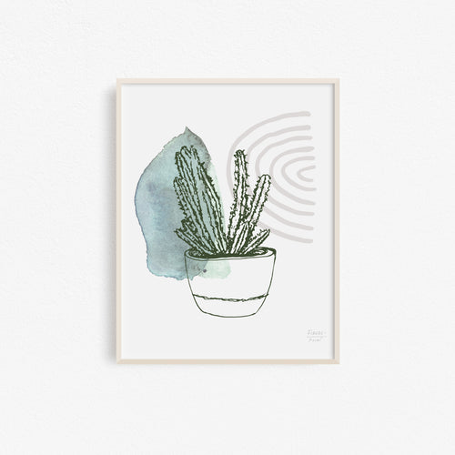 Discounted Prickly Succulent Art Print