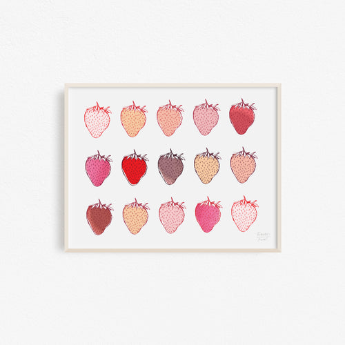 Strawberries Fruit and Kitchen Art Print