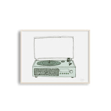 Victrola Record Player - Musical Art Print