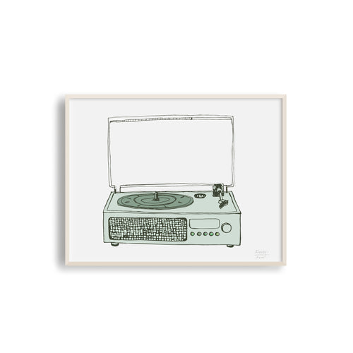 Victrola Record Player Musical Art Print