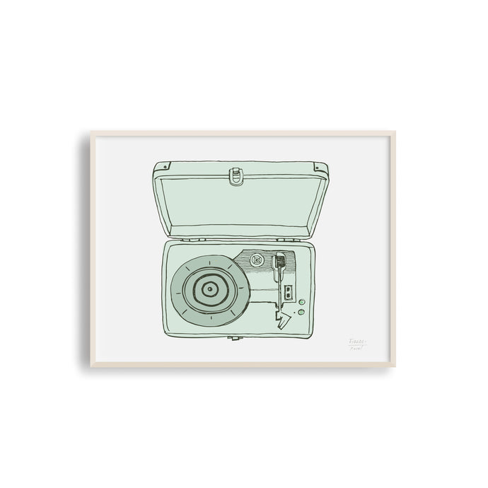 Vintage Record Player Musical Art Print