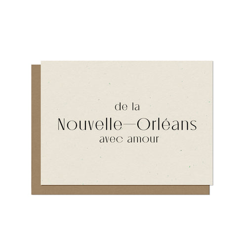 From New Orleans with Love (French) Blank Card
