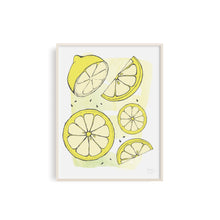 Funtastic Lemons Fruit and Kitchen Art Print