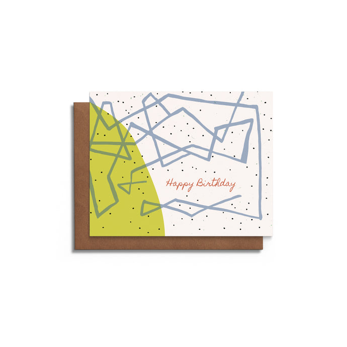 Playful Lines - Blank Birthday Card