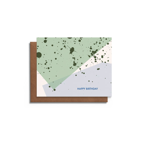 Paint Splatter Blank Birthday Card