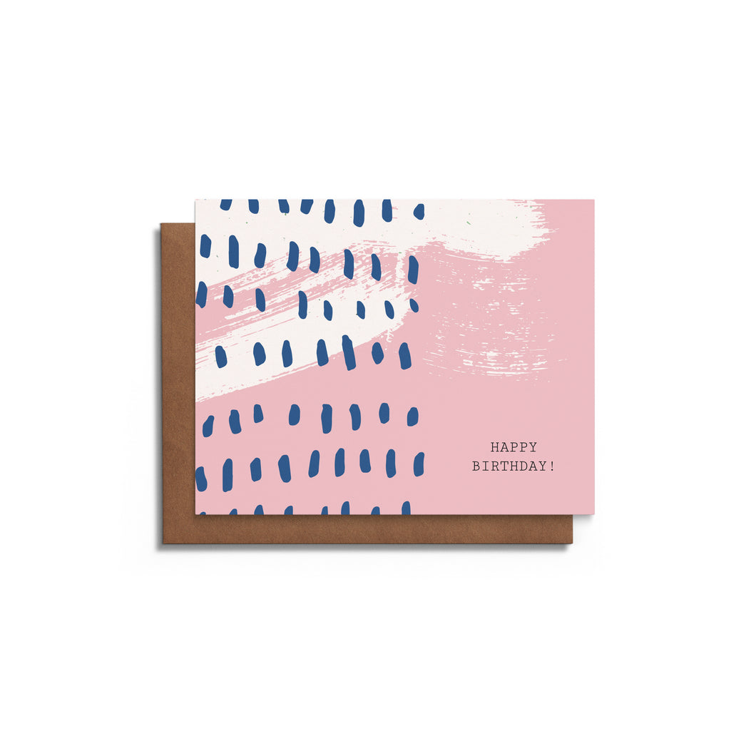 Modern Dots - Blank Birthday Card