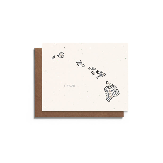 Hawaii State Greeting Card
