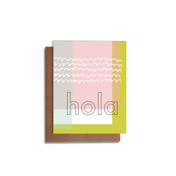 Hola | Blank Greeting Card