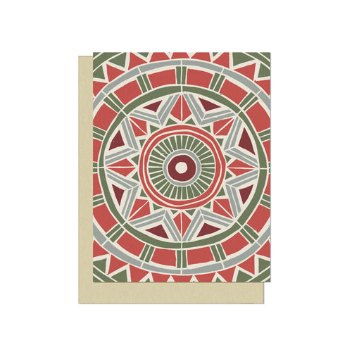Holiday Circular Pattern | Blank Holiday Card