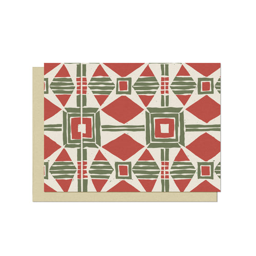 Holiday Tile Pattern | Blank Holiday Card