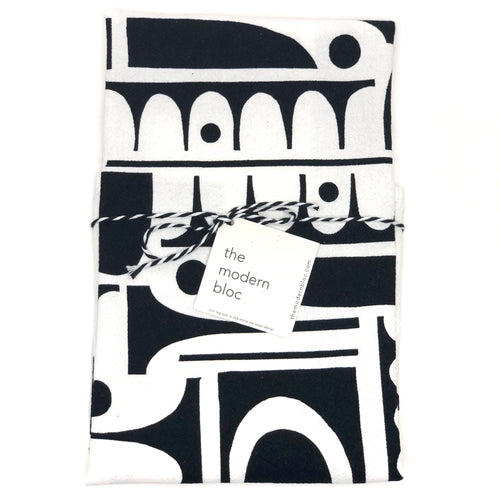 Kitchen Towel - Mid-Century Shapes - Screen-Printed by Hand