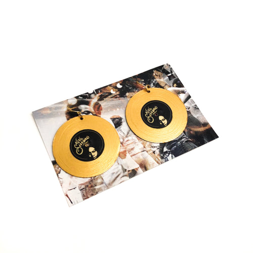 Nina Simone Record Earrings