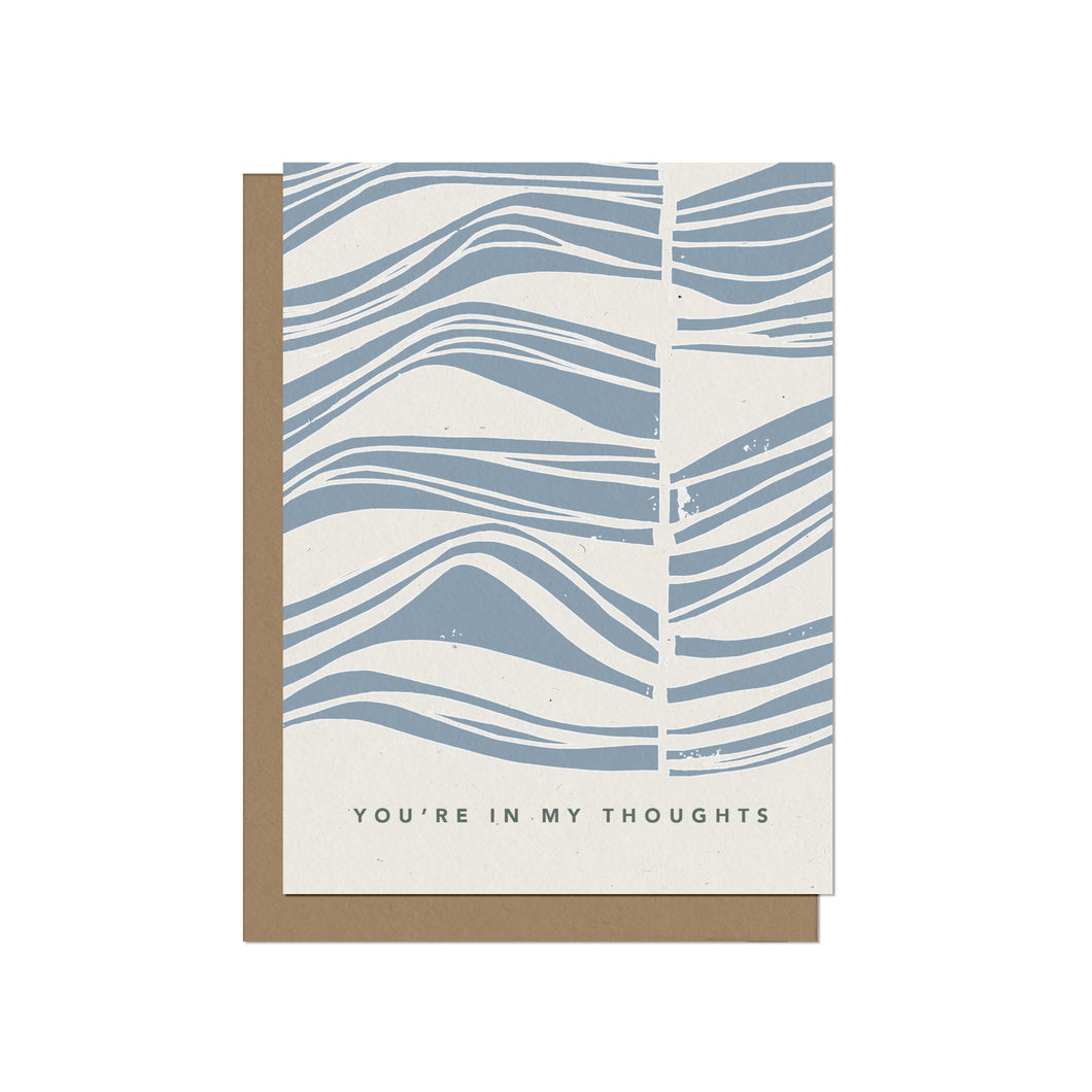 In My Thoughts Sympathy Blank Card
