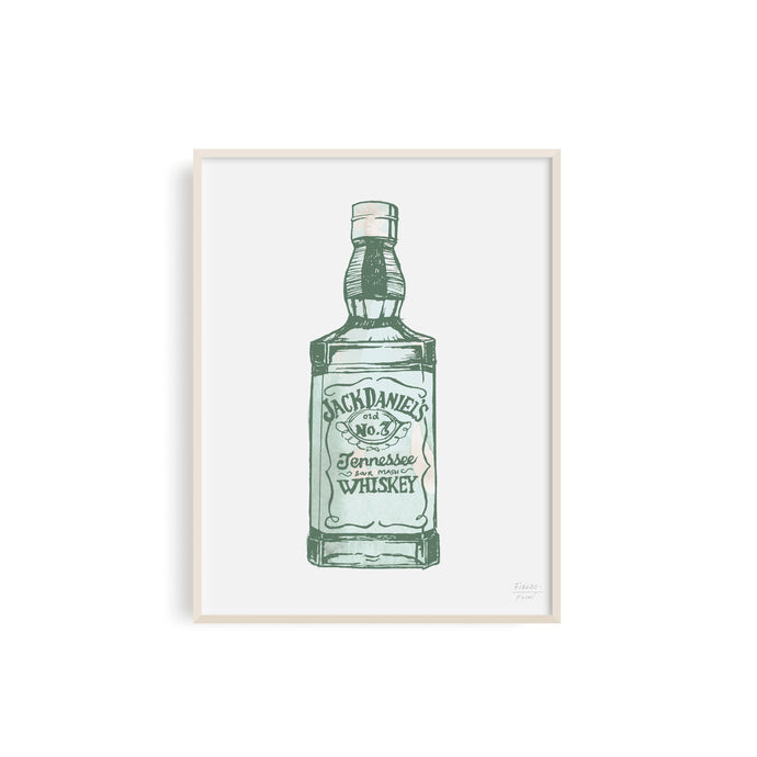 Jack Daniels Whiskey Illustration | Bar Art
