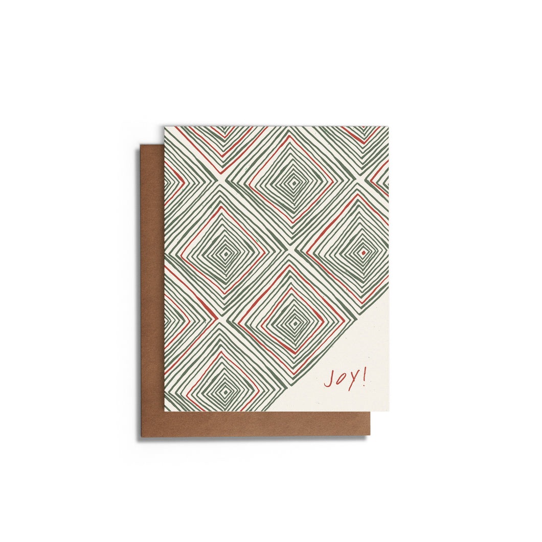 Joy | Blank Holiday Card