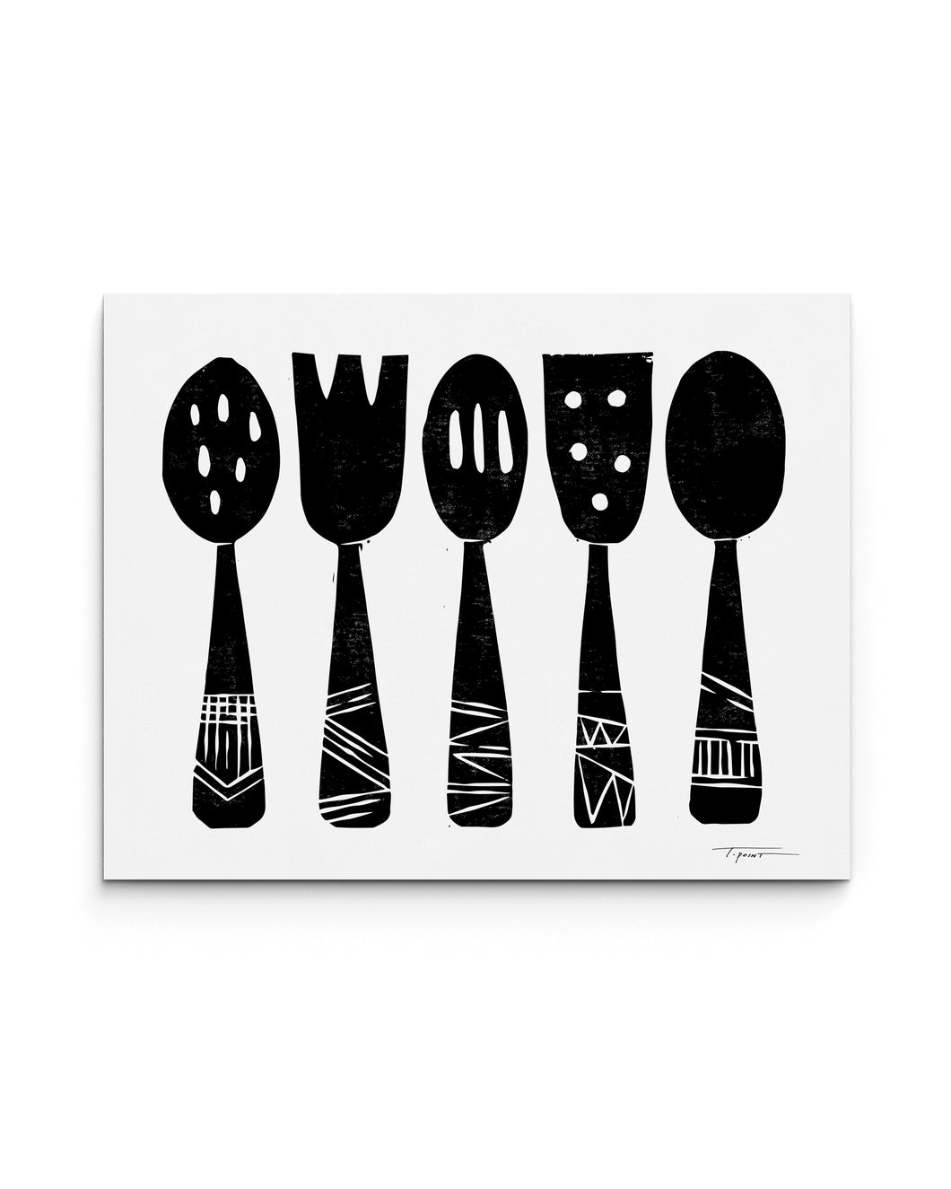 Kitchen Utensils | Block Print