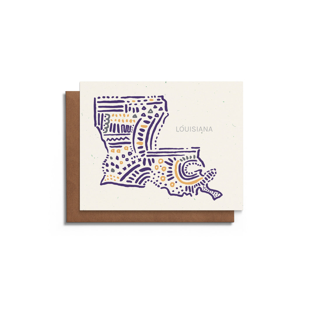 LSU Louisiana State Greeting Card