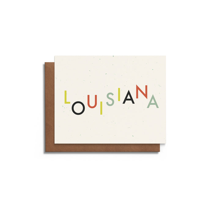 Playful Louisiana Blank Card