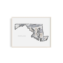 Maryland State Map Art Print | SI-MD