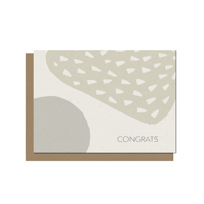 Minimalist Forms | Blank Congrats Card