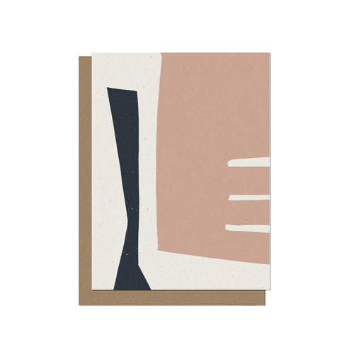 Minimalist and Abstract Forms Blank Card