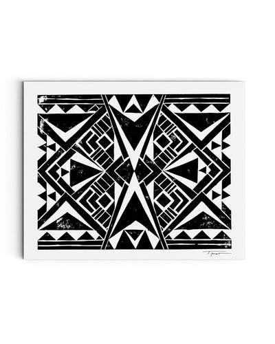 Mirrored Tribal Triangles | Block Print