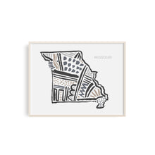 Missouri State Map Art Print | SI-MO