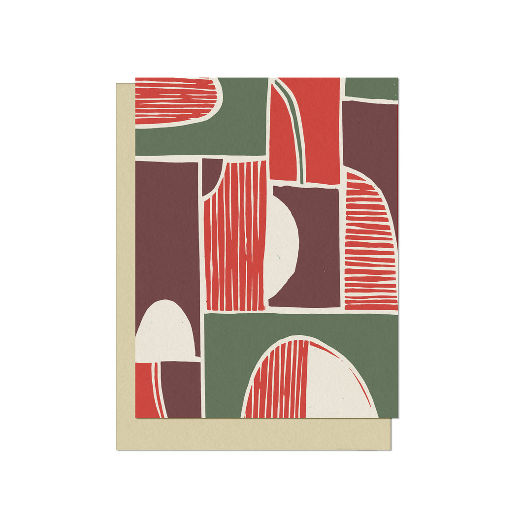 Modern Shapes | Blank Holiday Card