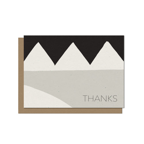Modern Geo | Blank Thank You Card